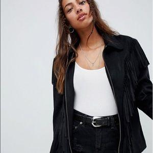 Jackets & Blazers - Suede fringe jacket